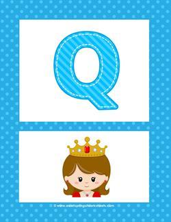 alphabet poster - uppercase q