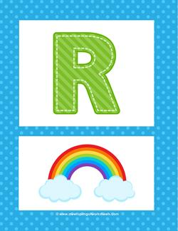 alphabet poster - uppercase r