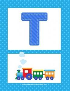 alphabet poster - uppercase t