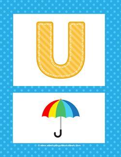 alphabet poster - uppercase u