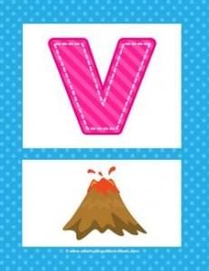 alphabet poster - uppercase v