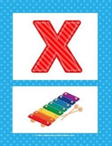 alphabet poster - uppercase x