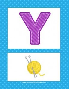 alphabet poster - uppercase y