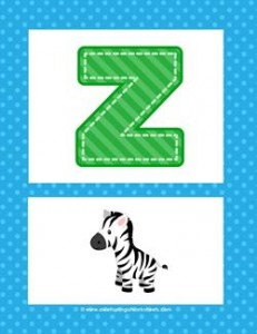alphabet poster - uppercase z