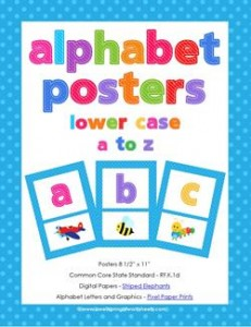alphabet posters - lowercase letters