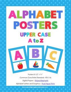 alphabet posters uppercase a-z - entire set
