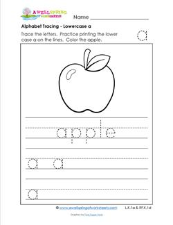 Alphabet Tracing Pages - Lowercase Letters