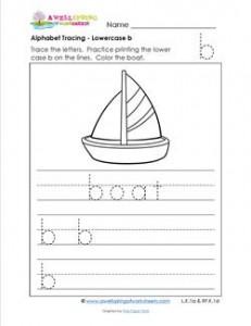 alphabet tracing - lowercase b