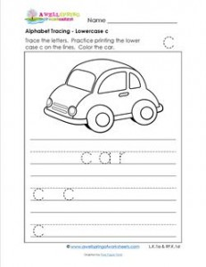 alphabet tracing - lowercase c