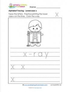 alphabet tracing - lowercase x