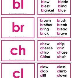 Beginning Consonant Blends Flashcards - 3 Sets | A Wellspring