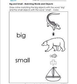 Big and Small - Matching Words and Objects