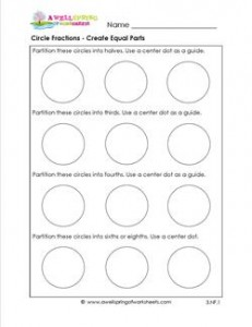 circle fractions - create equal parts