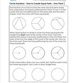 circle fractions - how to create equal parts one third