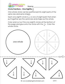 circle fractions one eighth