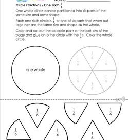 circle fractions one sixth