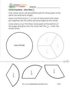 circle fractions one third