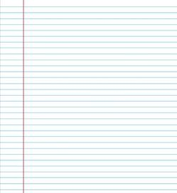 college ruled lined paper