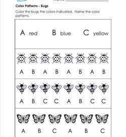 Pattern Worksheet Kindergarten Math Worksheets For Pdf Block Abc ...