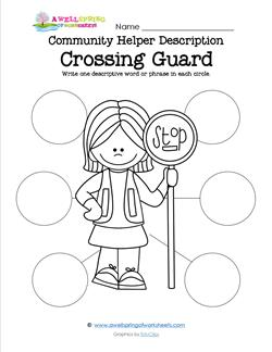 Community Helper Description - Crossing Guard
