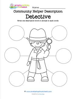 Community Helper Description - Detective