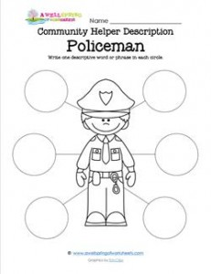 Community Helper Description - Policeman