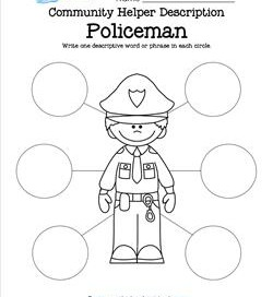 Community Helper Description - Policeman