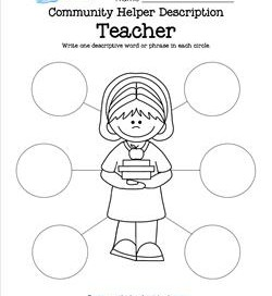Community Helper Description - Teacher