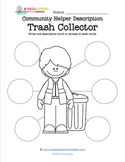 Community Helper Description - Trash Collector