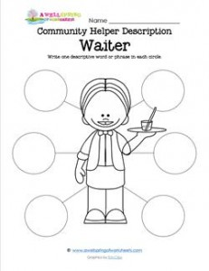 Community Helper Description - Waiter