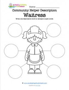 Community Helper Description - Waitress
