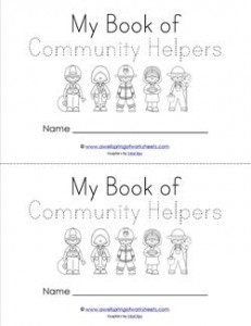 Community Helpers Book - Trace the Words