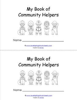 Community Helpers Booklet - Read and Color | A Wellspring