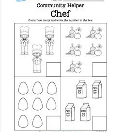 Community Helpers Count How Many - Chef
