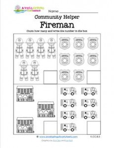 Community Helpers Count How Many - Fireman