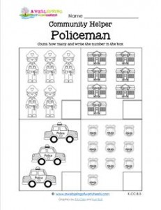 Community Helpers Count How Many - Policeman