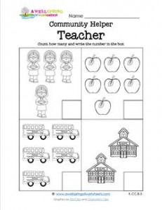 Community Helpers Count How Many - Teacher | A Wellspring
