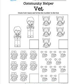 Community Helpers Count How Many - Vet