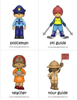 Community Helpers Flash Cards - Page 5 of 6