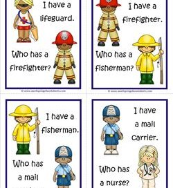 Community Helpers I Have Who Has - Page 3 of 6