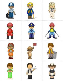Community Helpers Matching Game - Page 2 of 4