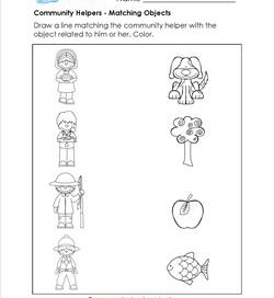 Community Helpers Matching - Match the Helper to the Object