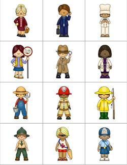 Community Helpers Matching Puzzles - Reference Page 2