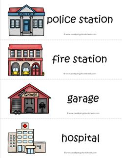 Community Helpers Vocabulary Cards - Where the Helpers Work
