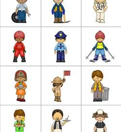 community helpers matching puzzles reference page 2 - Community Workers