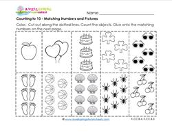 Count to 10 - Matching Numbers and Pictures