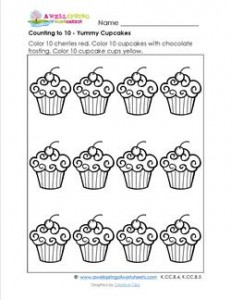 Count to 10 - Yummy Cupcakes
