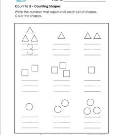 Count to 3 - Counting Shapes