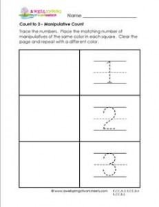 Count to 3 - Manipulative Count