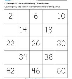 Counting by 2s to 50 - Kindergarten Counting | A Wellspring